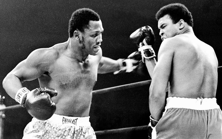 Triumphing over Ali in 1971.