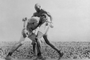 """Johnson vs. Jeffries: the first """"Fight of the Century."""""""