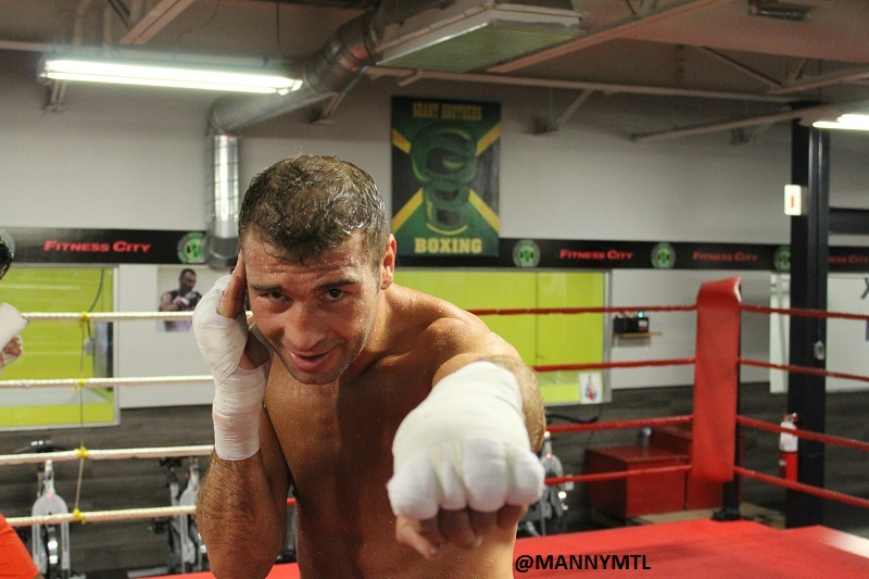 JULY 23rd 2015 Lucian Bute Grant Brothers Sparring @MANNYMTL