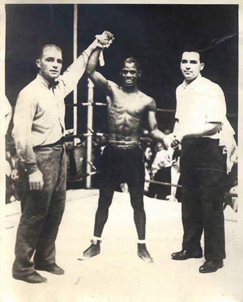 Eligio Sardiñas celebrates his big win.