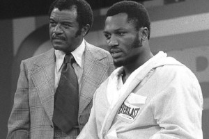 FUTCH FRAIZER...FILE--Trainer Eddie Futch, left, stands with his boxer Joe Frazier before Frazier's official weigh-in for his fight against Jerry Quarry in this June 17, 1974 photo in New York City. Futch, an amateur sparring partner for Joe Louis who went on to train 20 world champions as one of boxing's greatest teachers, died Wednesday morning, Oct. 10, 2001, in Las Vegas. He was 90. (AP Photo/FILE)...S...BOX FILE...NEW YORK...NY...USA . Joe Frazier died 7/11/2011