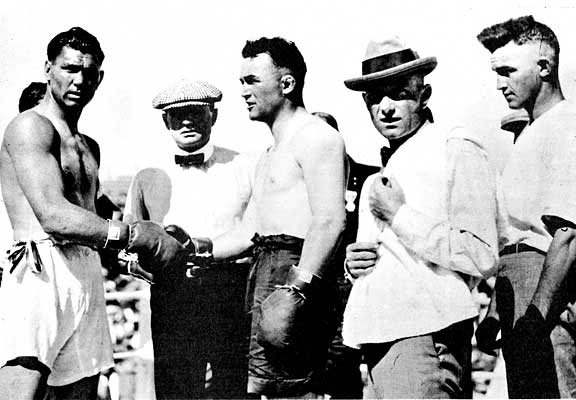 Gibbons is often best remembered for going the distance with heavyweight champion, Jack Dempsey.