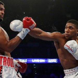 Britain Boxing - Anthony Joshua v Dominic Breazeale IBF World Heavyweight Title - The O2 Arena, London - 25/6/16 Anthony Joshua in action against Dominic Breazeale Action Images via Reuters / Andrew Couldridge Livepic EDITORIAL USE ONLY.