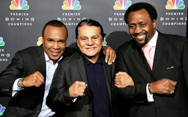 Leonard, Duran and Hearns last year.