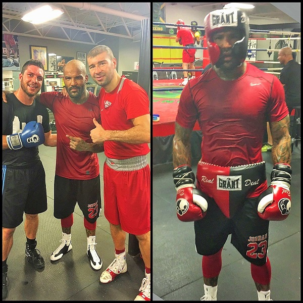 Ford training at the Grant Brothers gym with Francis Lafreniere and Lucian Bute.