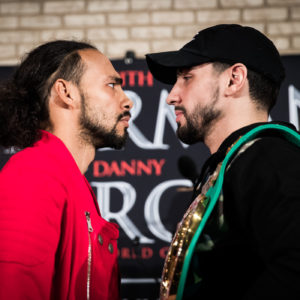 Keith Thurman and Danny Garcia face off.