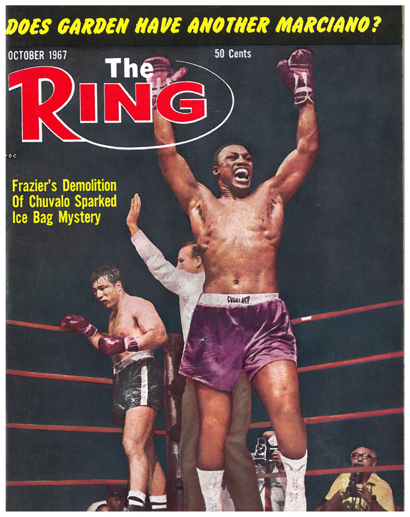On the cover of The Ring after stopping Chuvalo.