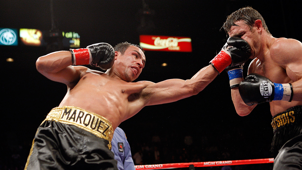 Marquez got off the canvas to stop Katsidis