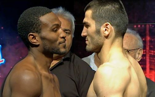 Cloud and Beterbiev at the weigh-in.