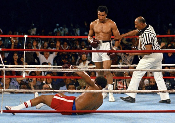 Ali drops Foreman for the count.