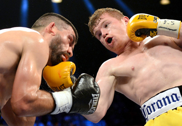 Will Canelo cut Cotto's reign short?