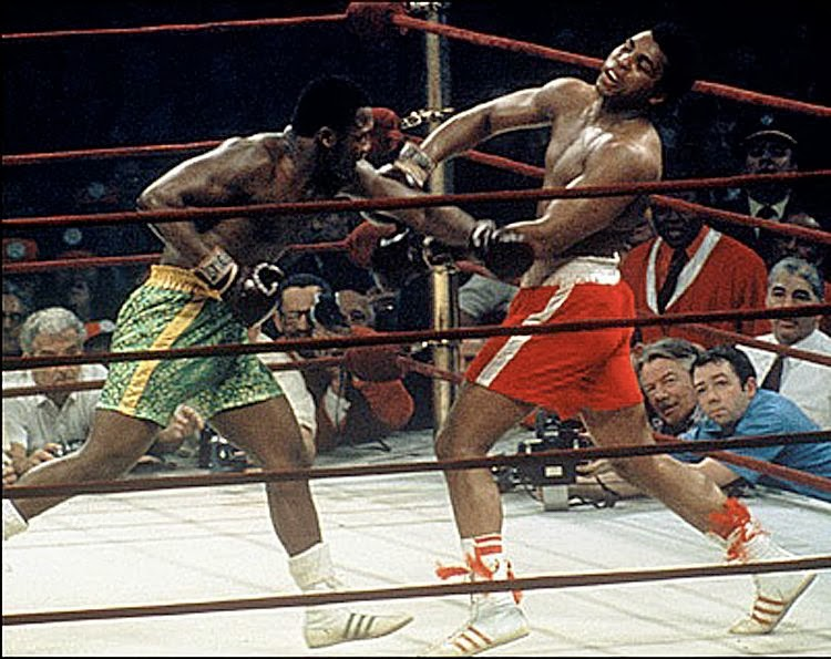 March 1971: Joe Frazier hands Ali his first defeat.