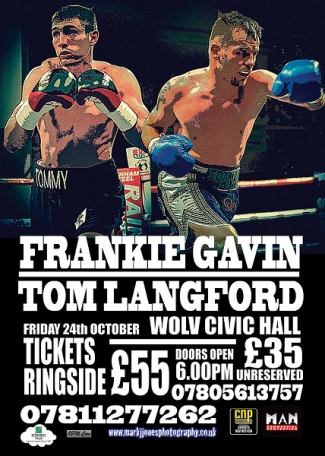 Langford fight poster