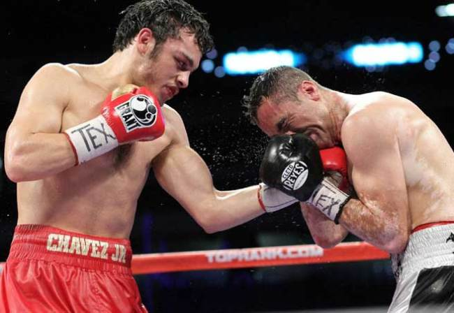 Chavez breaks down Rubio during their 2012 fight.