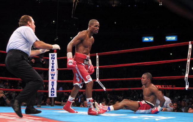 Arguably the biggest win of Hopkins career: stopping Trinidad in 2001.