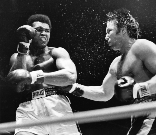 Two of the toughest: Ali and Chuvalo.
