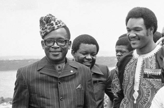 Mobutu and Foreman in N'Sele.