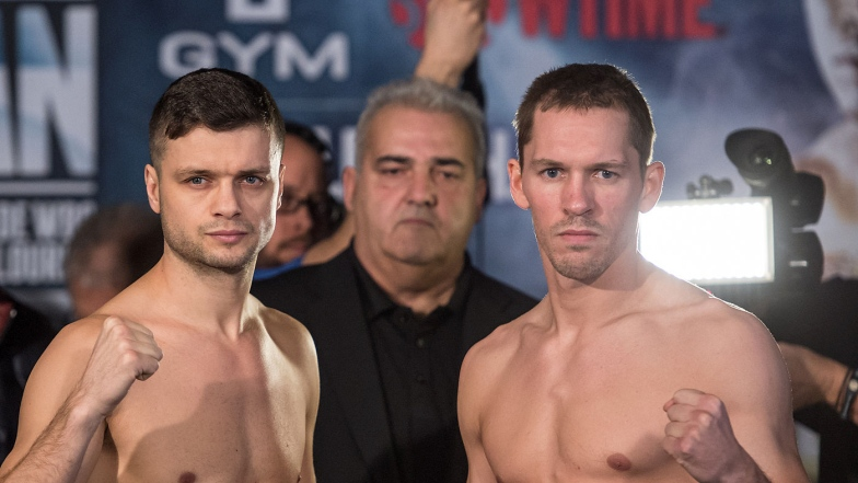 Dan and Bizier at the weigh-in: fans are hoping for a repeat.