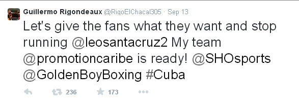 Rigo calls out Santa Cruz