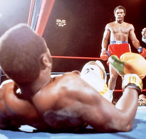 Foreman's brutal stoppage of Frazier shocked the boxing world.