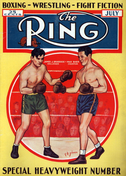 Ring Magazine Cover - James J. Braddock and Max Baer