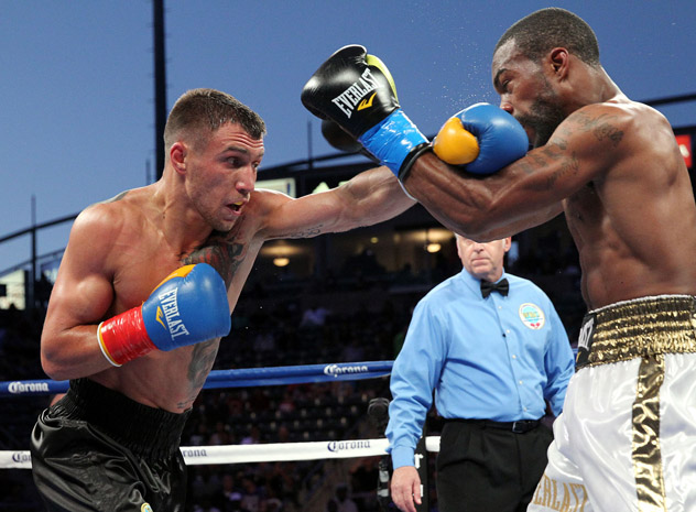 Lomachenko, the aspiring ring artist against Gary Russell Jr. His best win so far.