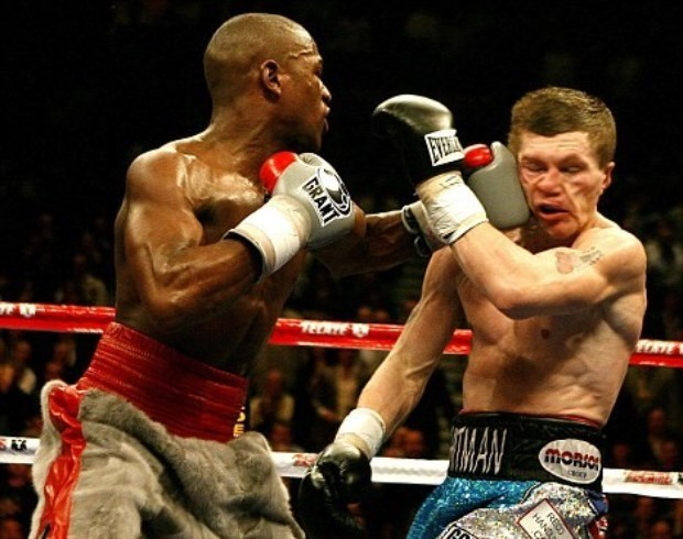 Image result for Floyd Mayweather Check hook