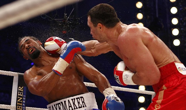 Against Klitschko, Haye disappointed.