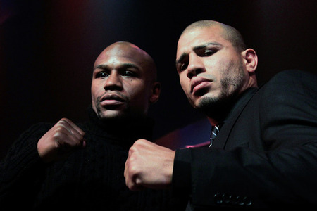 "Mayweather and Cotto hype ""Ring Kings."""