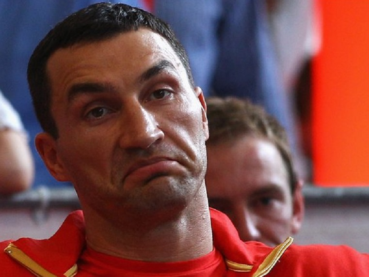 Klitschko: not impressed.
