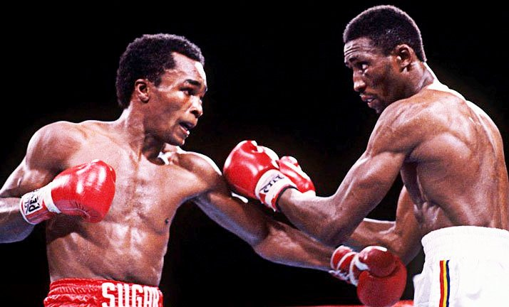 This was Leonard's first fight since his huge victory over Thomas Hearns.