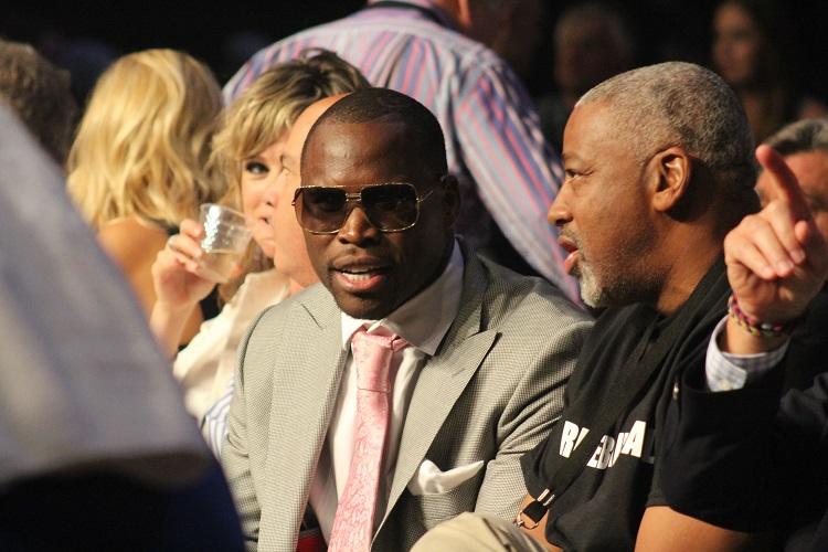 Adonis Stevenson at ringside.