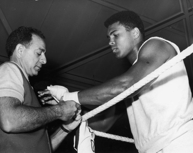 Dundee with a young Muhammad Ali.