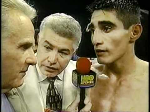 HBO's Larry Merchant interviews the new champion