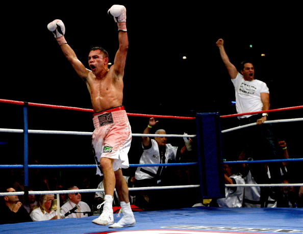 Peden after defeating Nate Campbell for the IBF super featherweight title.