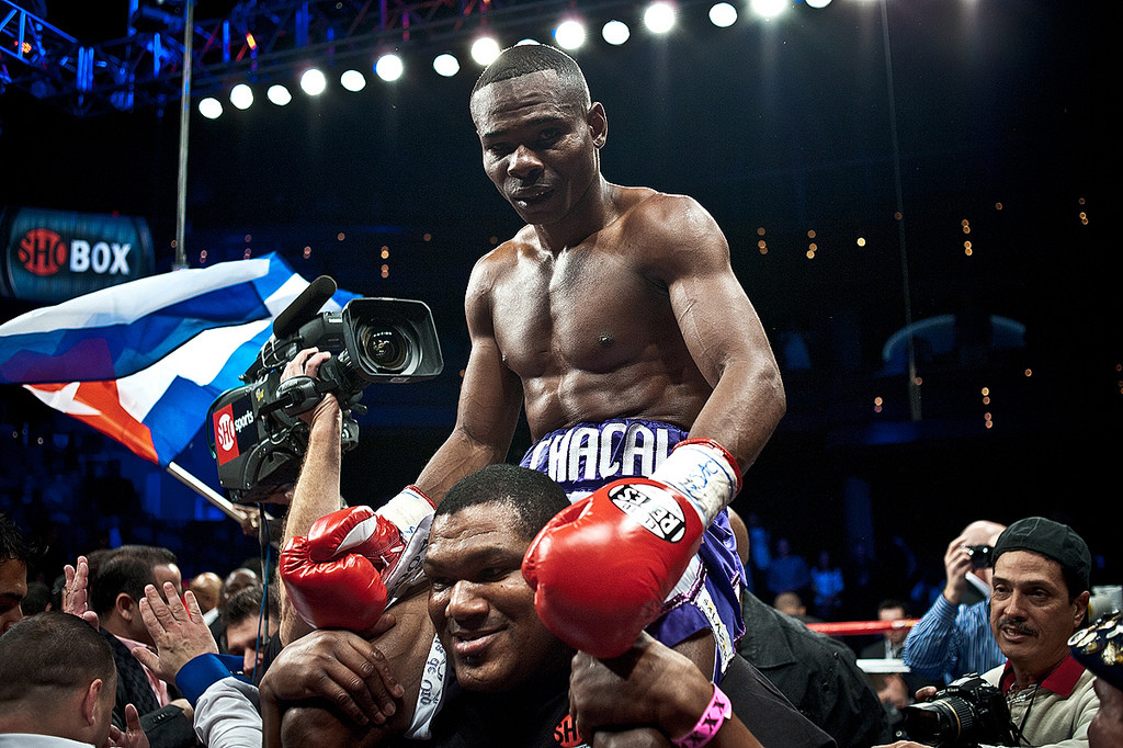 Guillermo Rigondeaux after defeating Rico Ramos in 2012.