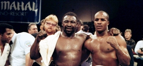 Cooper and Moorer show respect after the battle.