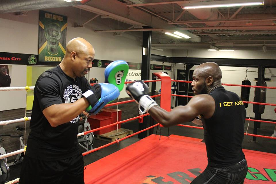 Otis working with Ghislain Maduma.