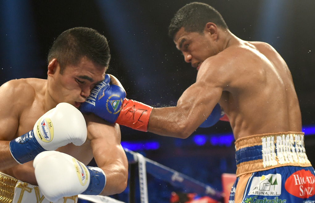 'Chocolatito' landing a big shot on recent opponent Brian Viloria.