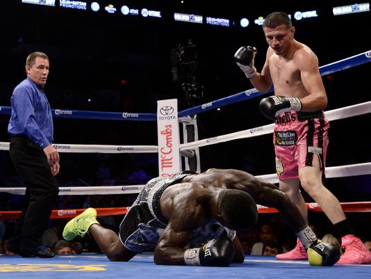 Soto Karass scored an upset knockout win over Berto