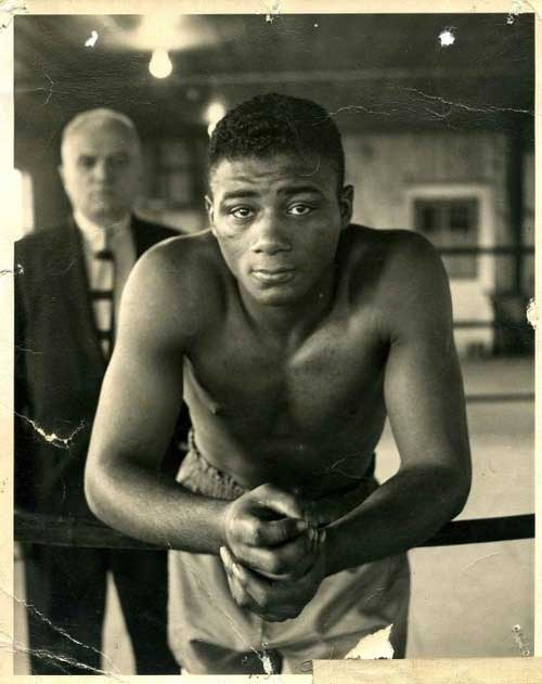 Floyd Patterson with his trainer, Cus D'Amato.