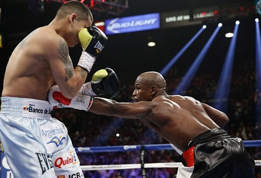 Floyd is a master of the body jab.