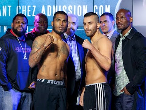 De La Rosa and Lemieux at Friday's weigh-in.
