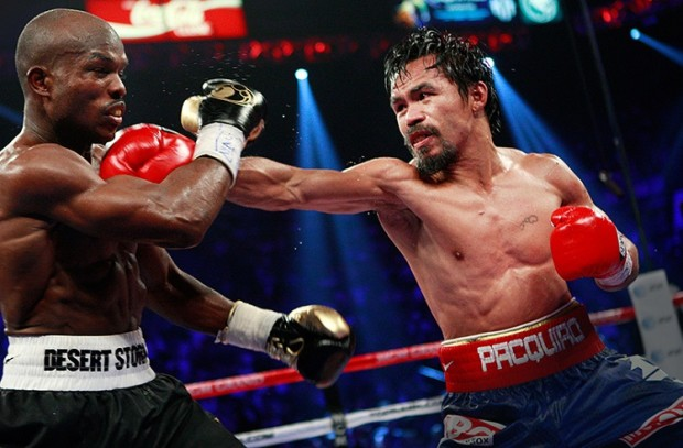 Some thought Manny dominated with his powerful left hand.