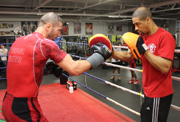 Bute working with Howard Grant.