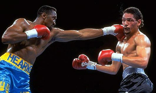 Thomas Hearns ended Hill