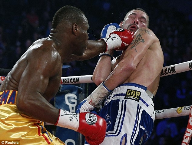 Stevenson's power was too much for Bellew.