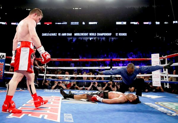 Amir Khan can attest to just how hard Canelo can hit