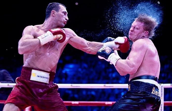 Klitschko tags Povetkin.
