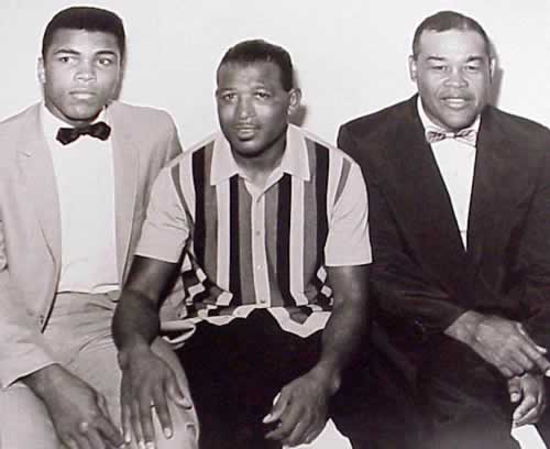 Muhammad Ali, Sugar Ray Robinson, and Joe Louis